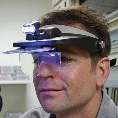 Visor Magnifier With Light