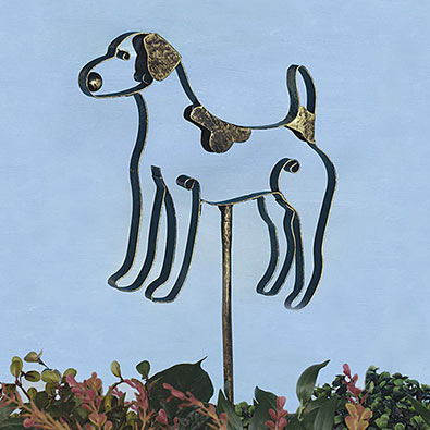 Jack Russell Garden Stake