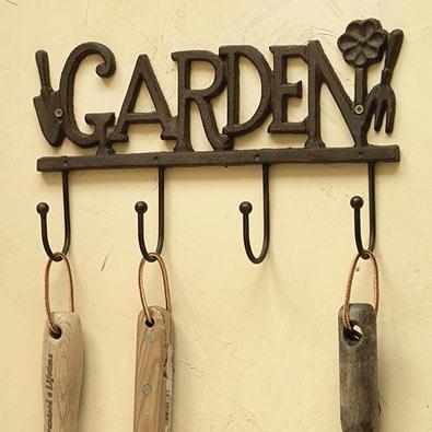 Cast-Iron Garden Tool Rack