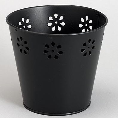 Set of 4: Metal Stamped Pots