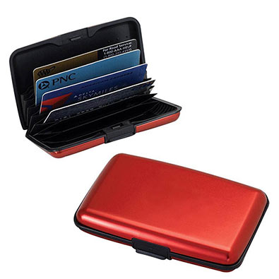 Aluminium Red Case Wallet