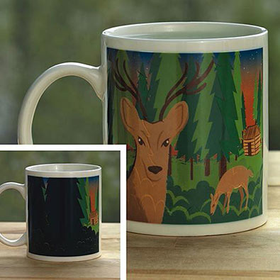 Mysterious Colour Changing Deer Mug