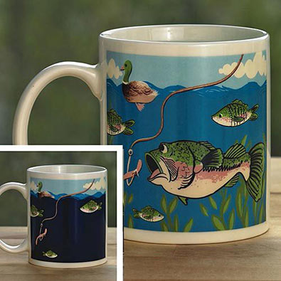Mysterious Colour Changing Fishing Mug