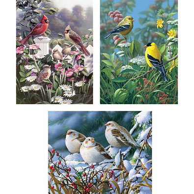 3-In-1 Set : Waiting To Fly Multi Piece Count Jigsaw Puzzles