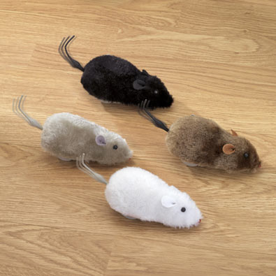 Four Wind Up Racing Mice