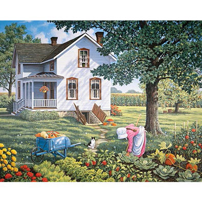Farmer's Daughter 500 Piece Jigsaw Puzzle