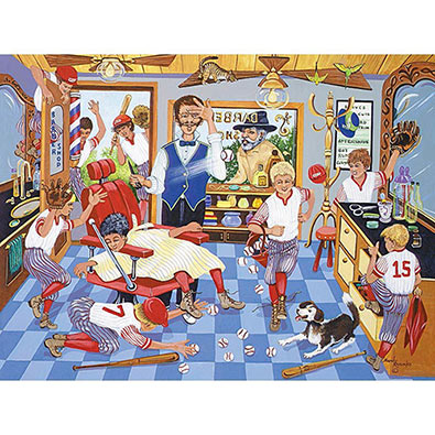 Barbershop Mayhem 500 Piece Jigsaw Puzzle