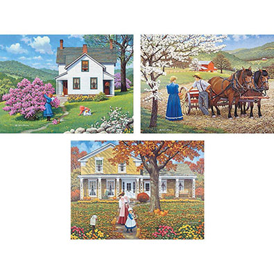 3-in-1 Beautiful Days 1000 Piece Jigsaw Puzzle
