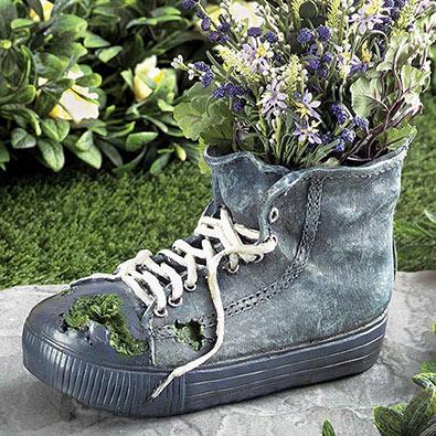 High Top Sneaker Planter