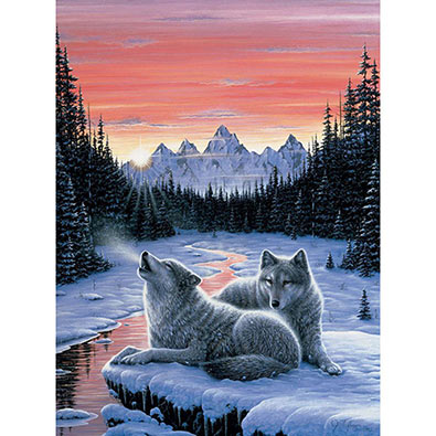 Winter's Dawn 300 Large Piece Glow-In-The Dark Jigsaw Puzzle