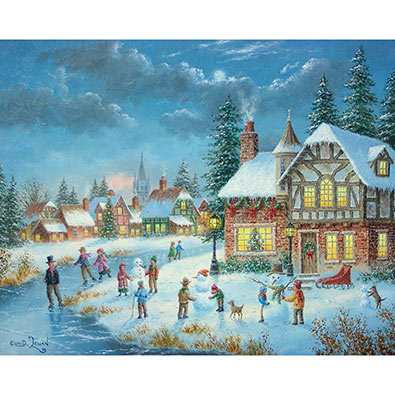 The Snowman Builders 300 Large Piece Jigsaw Puzzle