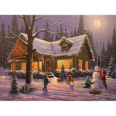 Family Traditions 300 Large Piece Glow-In-The Dark  Jigsaw Puzzle