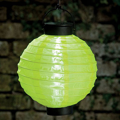 Yellow-Solar Outdoor Oriental Garden Lantern