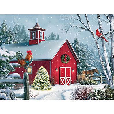 Winter Barn II 1000 Piece Jigsaw Puzzle