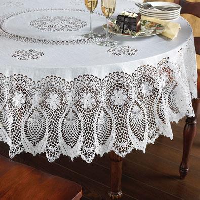 153cm x 264cm Faux Lace Tablecloth
