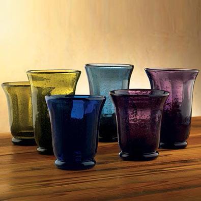 Shades Of Bubble Glassware - Blue Tumbler
