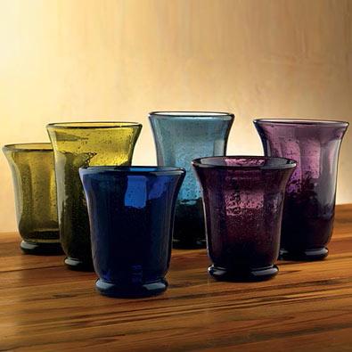 Shades Of Bubble Glassware - Eggplant Tumbler