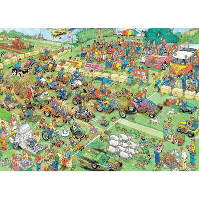 Lawn Mower Race 1000 Piece Giant Jigsaw Puzzle