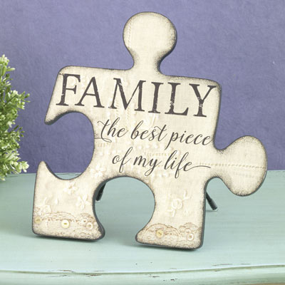 Family Puzzle Piece Plaque
