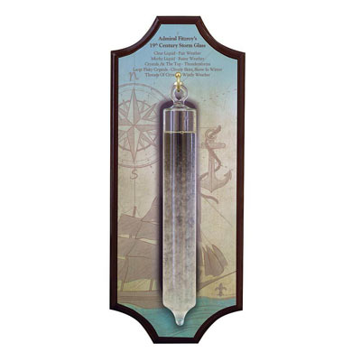 Admiral Fitzroy Storm Glass With Hanging Plaque