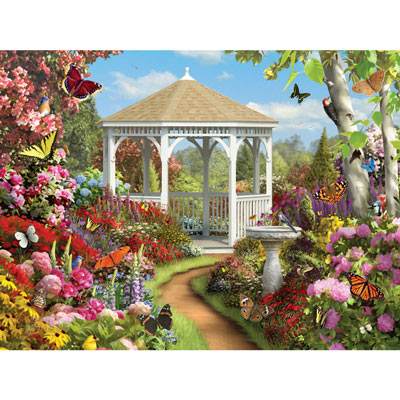 Butterfly Garden II 300 Large Piece Jigsaw Puzzle