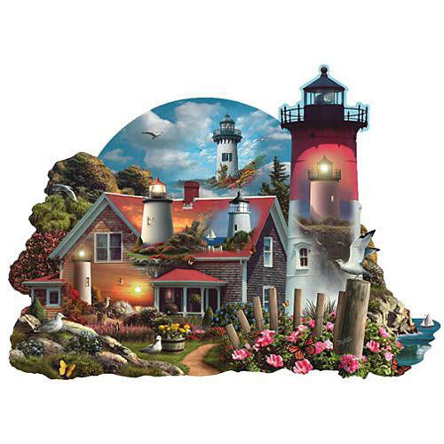 Guiding Lights 750 Piece Shaped Jigsaw Puzzle