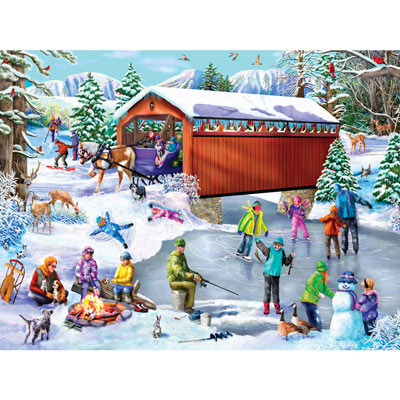 Winter Frolic 300 Large Piece Jigsaw Puzzle
