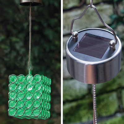 Solar Color-Changing Led Hanging Square
