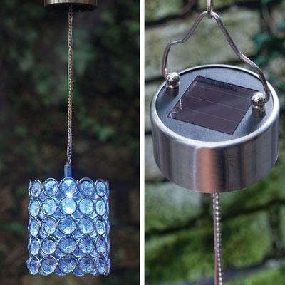 Solar Color-Changing Led Hanging Cylinder
