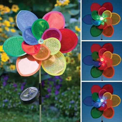 Solar-Powered Flower Stake