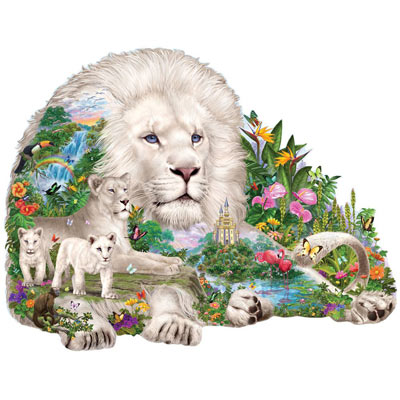 Dream Of The White Lions 750 Piece Shaped Puzzle