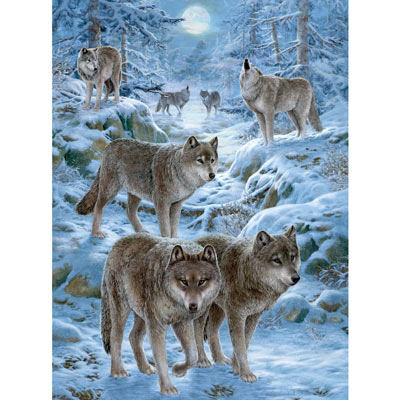 Winter Wolf Pack 300 Large Piece Jigsaw Puzzle