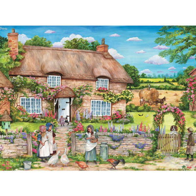 Cottage Gathering 300 Large Piece Jigsaw Puzzle