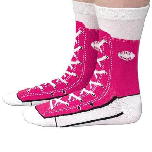 Pink Sneaker Socks