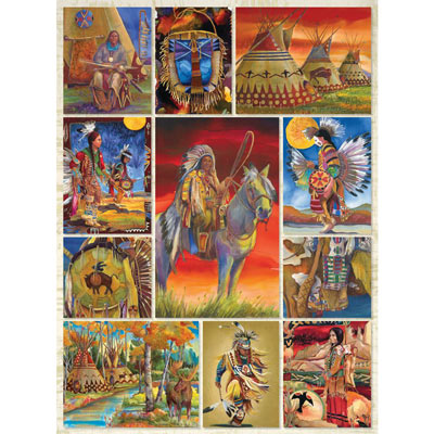 Native American Quilt 500 Piece Jigsaw Puzzle