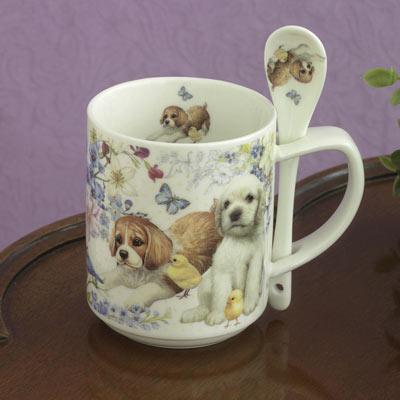 Puppy Mug With Spoon Set