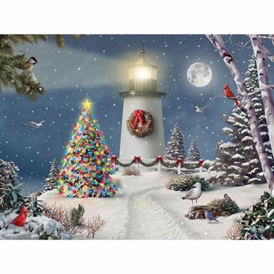 Coastal Holiday Lights 300 Large Piece Jigsaw Puzzle