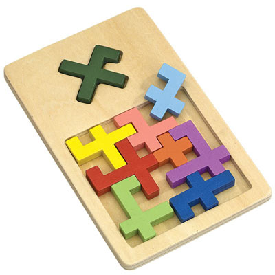 X Marks The Spot Wooden Tray Puzzle