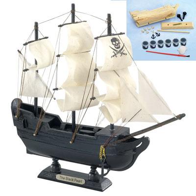 Small Black Pearl Ship Model