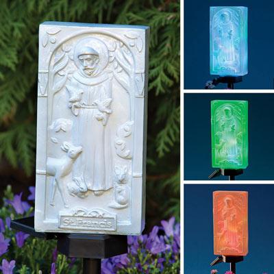 Saint Francis Solar Stake