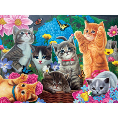 Playtime In The Garden 500 Piece Jigsaw Puzzle