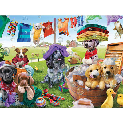 Puppies Playing 300 Large Piece Jigsaw Puzzle