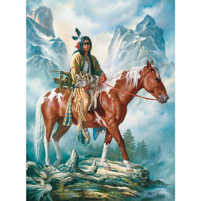They Call Me Wolf 300 Large Piece Native American Jigsaw Puzzle