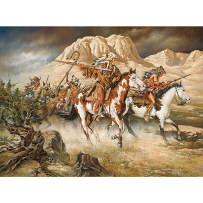 Thunder Rolls 1000 Piece Native American Jigsaw Puzzle
