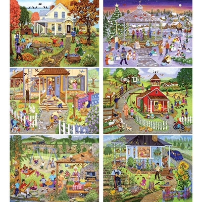 Set of 6: Sandy Rusinko 500 Piece Jigsaw Puzzles