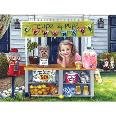 Cups 4 Pups 300 Large Piece Jigsaw Puzzle