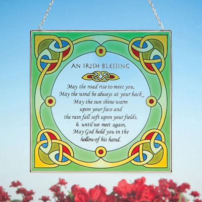 Irish Blessing Suncatcher