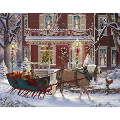 Christmas Sleigh 300 Large Piece Jigsaw Puzzle