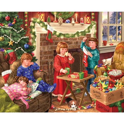 Children Decorating 500 Piece Jigsaw Puzzle