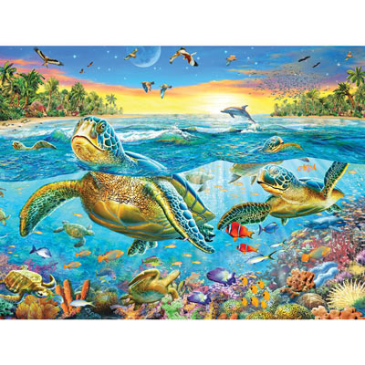 Turtle Cove 500 Piece Jigsaw Puzzle